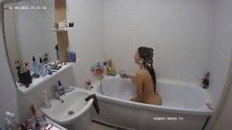 Brunette guest girl shower and shave feb 06 02 2021