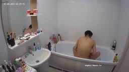 Brunette guest girl shower feb 08 02 2021