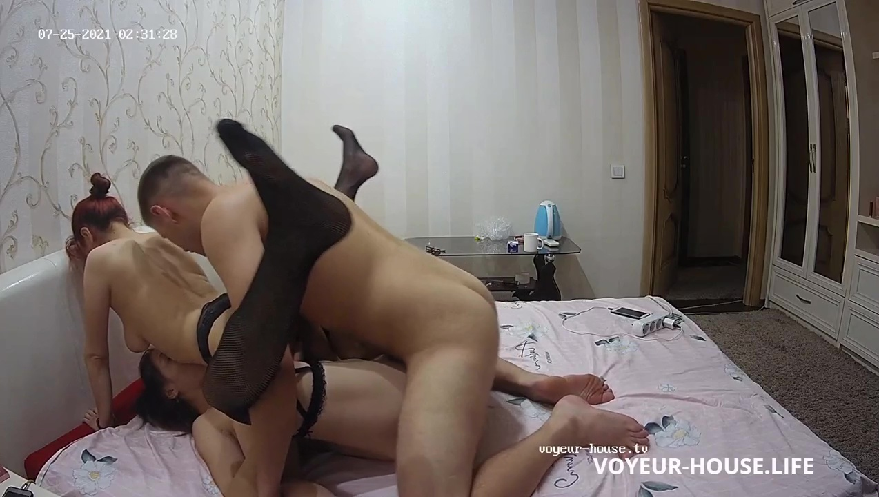 Archi Kataleya friend hot threesome suck and fuck in Bedroom July 25 2021 cam 3 voyeur house life