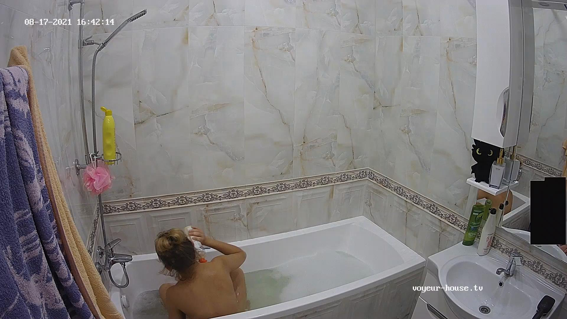 Guest girl shower and shave Aug 17 2021 cam 1