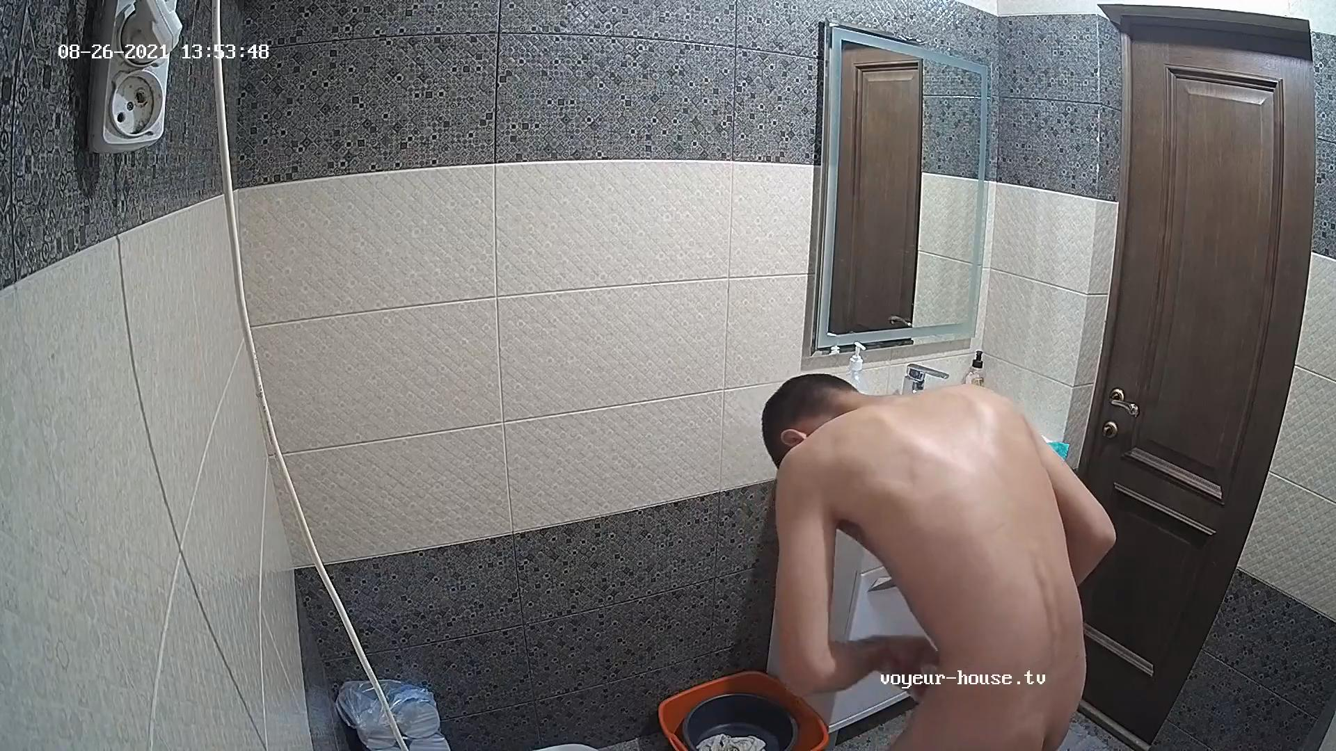 Assano naked in bathroom 26 Aug 2021