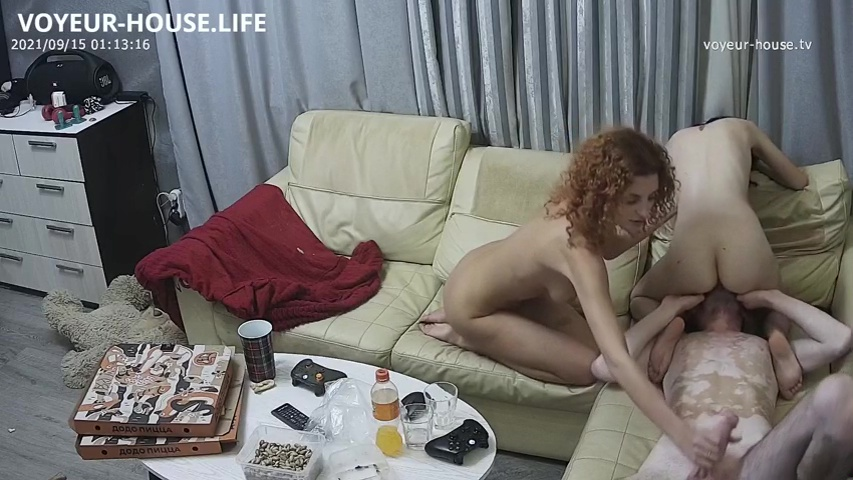 Mira Henry and Marica Mikl strip video games and foursome Sep 15 2021 cam 2